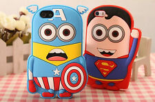 3D HERO MINION Silicone Back Cover Skin Case for Apple iPhone 4/4s 5/5s 5C 6/6s