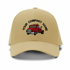 Your Company Name Custom Tow Truck Embroidered Adjustable Hat Baseball Cap