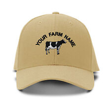 Custom Name Holstein Embroidery Embroidered Adjustable Hat Baseball Cap