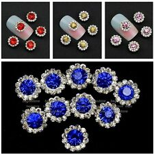 10pcs 3D Round Nail Art Crystals Metal Rhinestone Beads For Nails Decorations