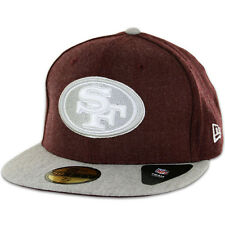 New Era 59Fifty San Francisco 49ers Heather Blende (Maroon/Grey) Fitted Hat Cap