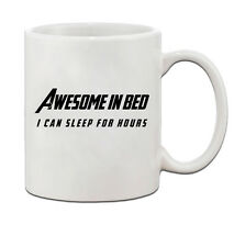 Awesome In Bed I Can Sleep For Hours Ceramic Coffee Tea Mug Cup