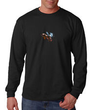 Moose Animal Pets Long Sleeve Cotton T-Shirt Tee Shirt