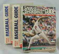 VINTAGE OLD SPORTING NEWS BASEBALL GUIDES (3) IN ONE LOT  1977 (2) AND 1981 (1)