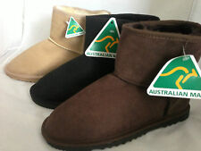 AUSTRALIAN MADE GENUINE SHEEPSKIN ADULT SHORT UGG BOOTS 5 colours PULL ON STYLE