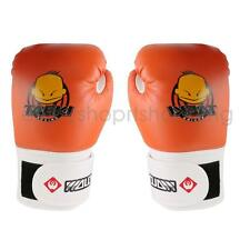 Kids PU Leather Kickboxing MMA Muay Thai Training Punching Bag Boxing Gloves