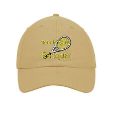 Tennis Is My Racquet Embroidered SOFT Unstructured Adjustable Hat Cap