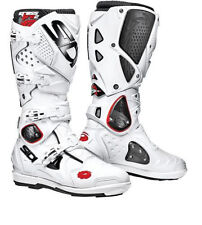 NEW SIDI CROSSFIRE 2 SRS MX MOTOCROSS DIRTBIKE OFFROAD BOOTS WHITE WHT ALL SIZES