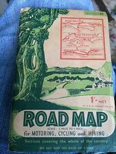 1940's road map for motoring, cycling  and hiking - south coast w.ak.johnston