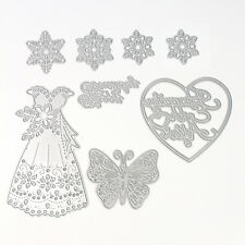 DIY Metal Heart Skirt Chic Die-Cutter Stencil Cardmaking&Scrapbooking Card Craft