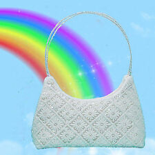 Beaded and Sequined Handle Evening Bag Purse in Several Colors - P465