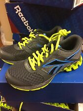 "New Juniors/Youth Zigtech""Zigkick Alpha"" Running Shoes Gray/Green/Blu V53719"