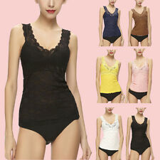 Sexy V-neck Sleeveless Camisole Womens Slim Vest Lace Tank Top bottoming Singlet