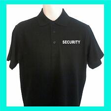 CUSTOM PRINTED PERSONALISED UNISEX SECURITY POLO SHIRT WITH PRINT ON FRONT BACK