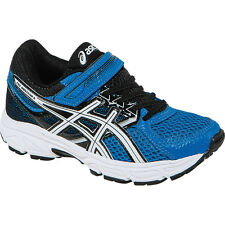 Asics Pre-Contend 3 PS Kids Running Shoes  Electric Blue-White-Black