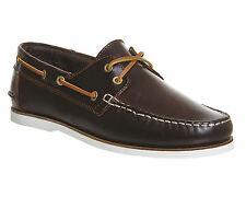 Mens Ask the Missus Deck Boat Shoe BROWN LEATHER Casual Shoes