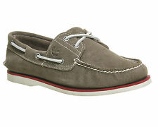 Mens Timberland New Boat Shoes GREY SUEDE Casual Shoes