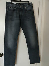 "NWT HUGO BOSS ""MAINE 1"" MENS JEANS REGULAR FIT ZIP FLY COTTON MEDIUM WASH $155+"
