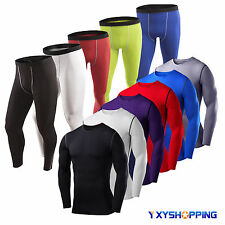 Men's Compression Baselayer Sports Activewear Tee Shirt Tee Tops Leggings Pants