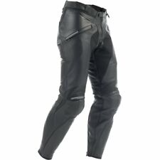 NEW DAINESE PONY BLACK LEATHER  MOTORCYCLE JEANS IN STOCK FREEPOST UK MAINLAND