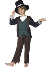 Kids Victorian Oliver Poor Boy Boys Book Week Fancy Dress Costume Party Outfit