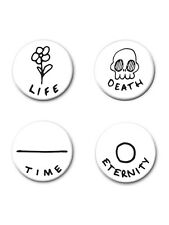 Death, Life, Eternity, Time Badge Pack 2.5x2.5cm