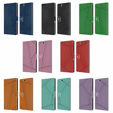HEAD CASE DESIGNS PATCH DENIM LEATHER BOOK WALLET CASE FOR SONY XPERIA Z ULTRA