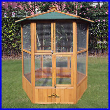 Aviaries Imperial Large Wooden Hexagonal Bird Aviary Cage Birds Parrot Canary
