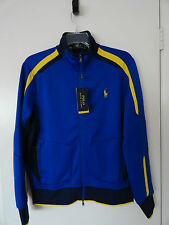 NWT POLO RALPH LAUREN MENS PERFORMANCE PIQUE FULL ZIP TRACK JACKET PACIFIC ROYAL