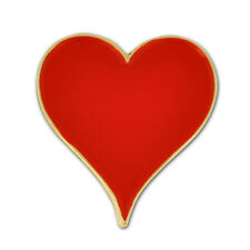 Hearts Card Suit Lapel Pin