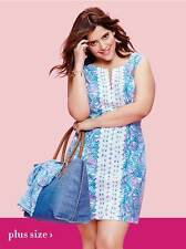 NEW! Lilly Pulitzer for Target Shift Dress in Oh My Fans BLUE Size 10