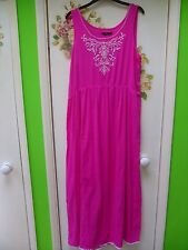 LADIES CERISE PINK SUMMER LONG DRESS SIZE 18/20 GEORGE BRANDED