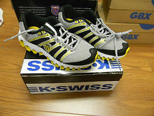 "New Youth K-Swiss""Tubes run 100 mesh"" Shoes Black/yellow/Silver/White"