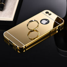 Slim Aluminium Metal Bumper Case for Oppo Lenovo Soft Mirror Back Phone Cover