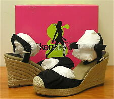 KENSIE GIRL Women's Keralisa Espadrille - Black Canvas - Multi SZ - NIB!!!