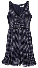 NEW! Kate Young For Target Dress Navy Blue Polka Dots Size  4 6 8 10 12 16