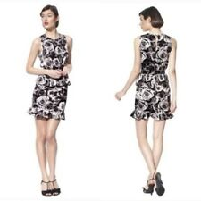 NEW! Kate Young Target Peplum Dress Rose Floral Black /White 2 4 6 8 10 12 14 16