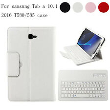 Wireless Bluetooth Buckle Keyboard Leather Stand Case For Samsung Galaxy Tablets