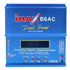 80W B6AC Dual Lipo NiMH RC Battery Balance Charger Discharger For Helicopter