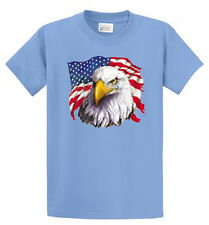 American Eagle with Tear Mens Printed T Shirt Reg to Big and Tall Size Port & Co
