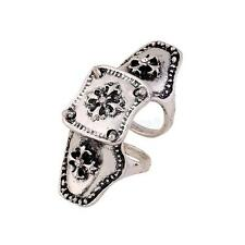 Cool Punk Rock Gothic Cross Scroll Armor Joint Knuckle Midi Finger Ring Vintage