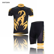 XINTOWN Men Yellow Cycling Jersey Bicycle Cycle Short Sleeves Shirt Bike Sport