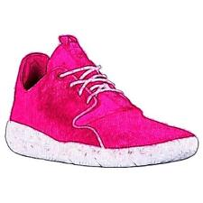 Jordan Eclipse - Girls' Primary School Basketball Shoes (Vivid Pink/White/White)
