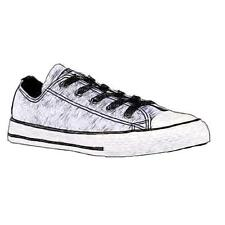 Converse All Star Ox - Girls' Primary Sch. Basketball Shoes (WT/BK/WT)
