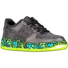 Nike Air Force 1 Low - Boys' Primary Sch. Basketball Shoes (BK/Volt/Rio Teal/BK)