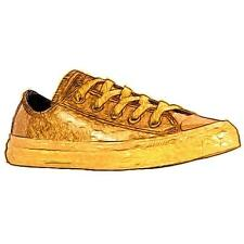 Converse All Star Ox - Boys' Primary School Basketball Shoes (Gold/Black/Gold)