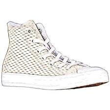 Converse All Star Hi - Boys' Primary School Basketball Shoes (White/White/Gold)