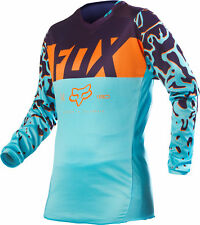Fox Racing Womens Aqua Blue/Orange/Purple 180 Dirt Bike Jersey MX ATV 2016