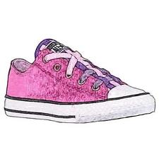 Converse All Star Loopholes Ox - Girls' Preschool Basketball Shoes (Powder Purp