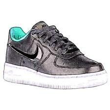 Nike Air Force 1 Low - Boys' Primary School Basketball Shoes (Black/Black/White)